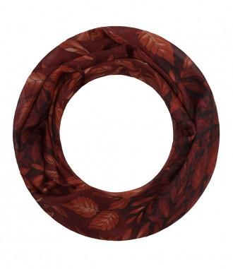 Damen Loop Schal - Blätter, rot