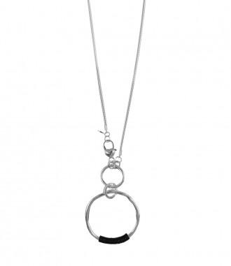 Damen Halskette - Ring, silber
