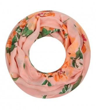 Loop Schal - Blumen, orange