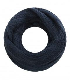 Loopschal - Zopfoptik, blau