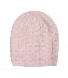 Damen Strick Beanie Mütze, rosa