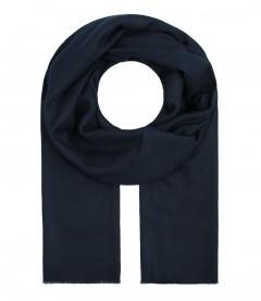 Damen Schal einfarbig, navy