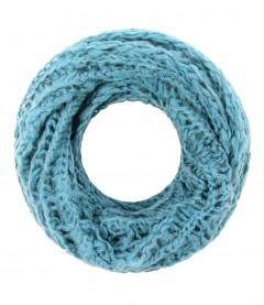 Damen Loop - Zopfmuster, blau