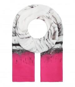 Halstuch mit Seide - maritim, pink