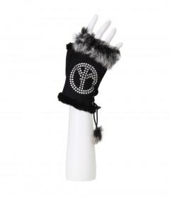 Damen Handschuh, schwarz