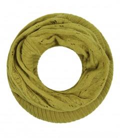 Damen Loop Schal - Strick, uni, senfgelb