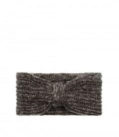 Damen Stirnband - Schleife, grau