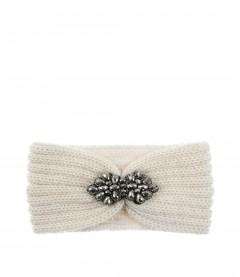 Damen Stirnband - Glitzer, cremeweiß