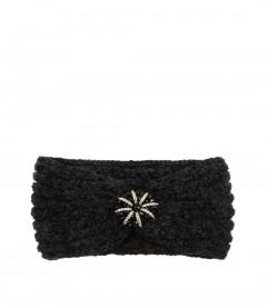 Damen Stirnband - Glitzer, schwarz