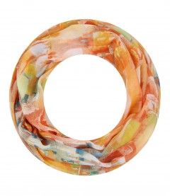 Damen Loop Schal - Farbverlauf, schmal, orange