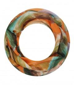 Damen Loop Schal - Farbwischer, schmal, orange