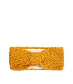 Damen Stirnband - Teddy, senfgelb