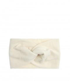 Damen Stirnband - Samt, cremeweiß