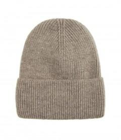 Basic Beanie Mütze - Feinstrick, beige
