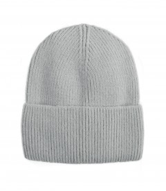 Basic Beanie Mütze - Feinstrick, hellgrau