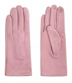 Einfarbige Damen Handschuhe, rosa