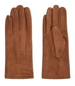 Einfarbige Damen Handschuhe, camel