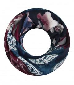 Damen Loop Schal - Muster Mix, blau