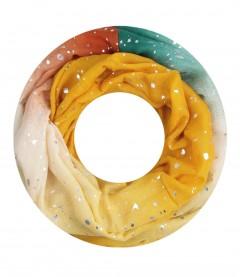 Damen Loop Schal - gemustert, gelb