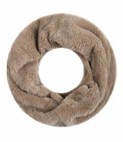 Damen Loop Schal Teddy, beige